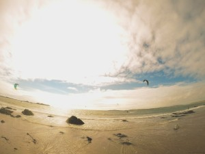 Kite surfer at Rhosneigr Beach